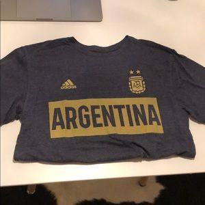 Adidas Argentina T Shirt - Small